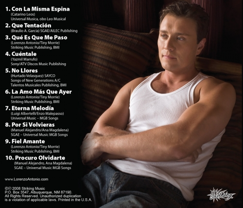 "Lorenzo Antonio ""Amores"" CD back"