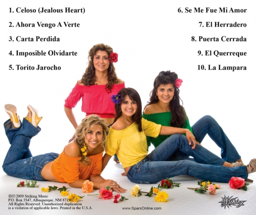 "Sparx ""Con Mariachi vol. 3"" CD back"