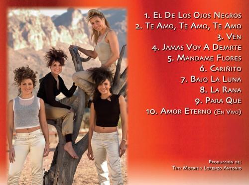 "Sparx ""Todo Lo Mejor"" CD back"